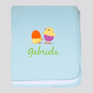 Easter Chick Gabriela baby blanket