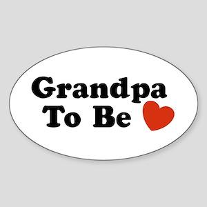 Grandpa To Be Oval Sticker