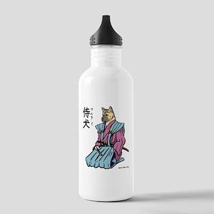 Samurai_shirt Water Bottle