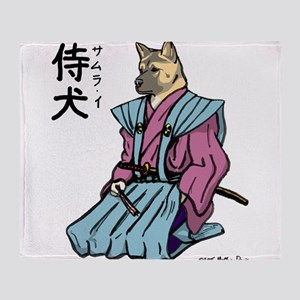 Samurai_shirt Throw Blanket