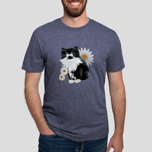 Kitten and Daisy Mens Tri-blend T-Shirt