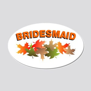 Autumn Leaves Bridesmaid 20x12 Oval Wall Decal