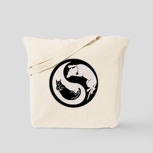 Dog-Cat Yin-Yang Tote Bag