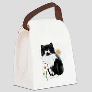 Kitten and Daisy Canvas Lunch Bag