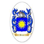 Beau Sticker (Oval 10 pk)