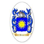 Beau Sticker (Oval 50 pk)
