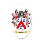 Beatey Oval Car Magnet