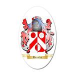 Beasley 2 20x12 Oval Wall Decal
