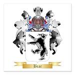 Bear Square Car Magnet 3