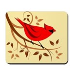 Red Cardinal Bird Mousepad