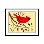 Northern Cardinal Framed Panel Print