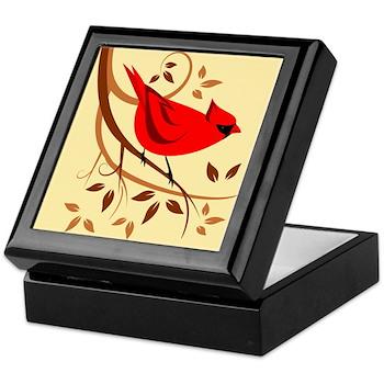 Northern Red Cardinal Keepsake Box