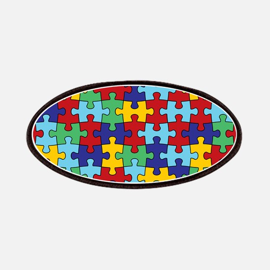 Autism Awareness Puzzle Piece Pattern Patches