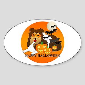 Shetland Sheepdog Sticker (Oval)