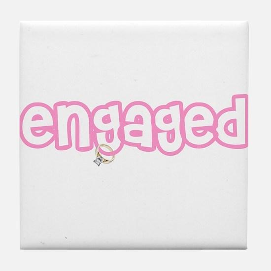 Engaged (Pink) Tile Coaster