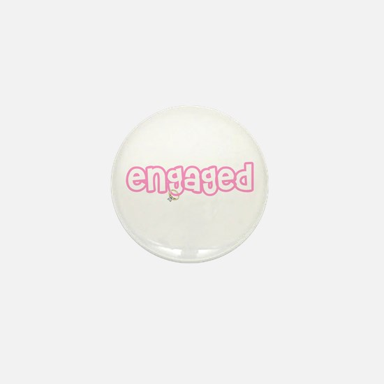 Engaged (Pink) Mini Button (10 pack)