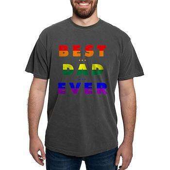 Gay Pride Best Dad Ever Mens Comfort Colors Shirt