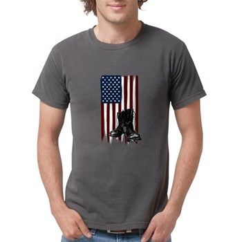 American Flag and Boots Mens Comfort Colors Shirt