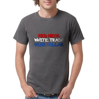 Red Neck White Trash Blue Col Mens Comfort Colors