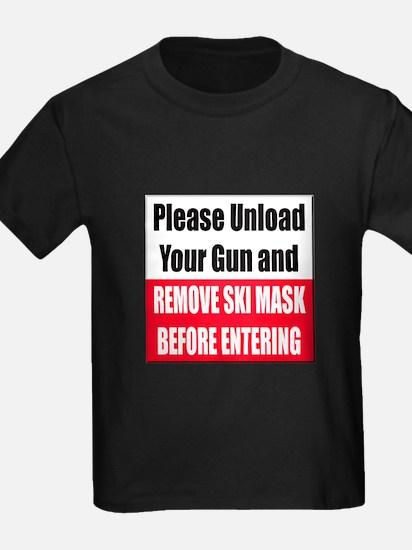 Unload Gun Remove Ski Mask T-Shirt