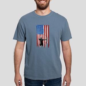 USA Flag Team Archery Mens Comfort Colors Shirt