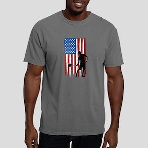 USA Flag Team Badminton Mens Comfort Colors Shirt