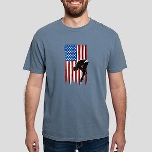 USA Flag Team Diving Mens Comfort Colors Shirt
