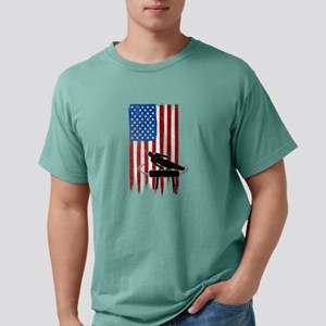 USA Flag Team Pommel Horse Mens Comfort Colors Shi