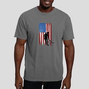 USA Flag Team Field Hockey Mens Comfort Colors Shi