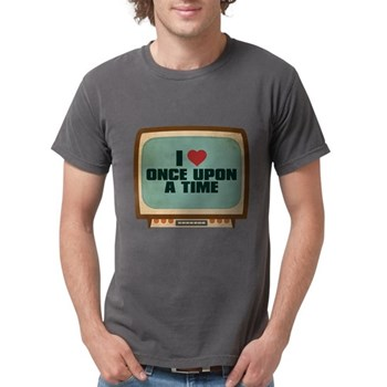 Retro I Heart Once Upon a Tim Mens Comfort Colors