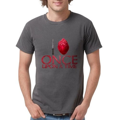 I Heart Once Upon a Time Mens Comfort Colors Shirt