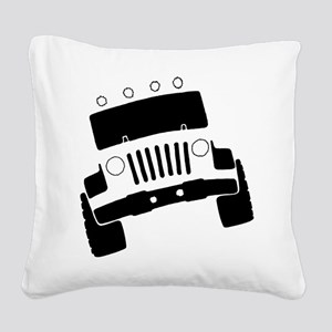 Jeepster Rock Crawler Square Canvas Pillow