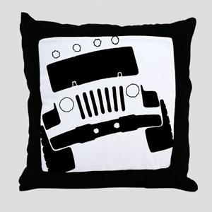 Jeepster Rock Crawler Throw Pillow