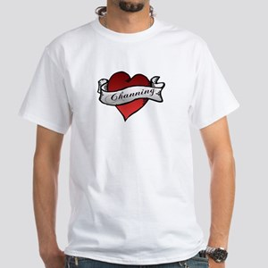 Channing Tattoo Heart White T-Shirt