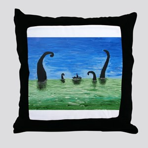 Attack of the Kraken Throw Pillow