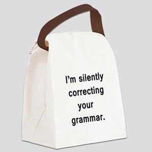 Im silently correcting your grammar. Canvas Lunch