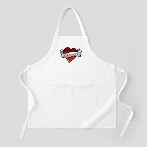 Channing Tattoo Heart BBQ Apron