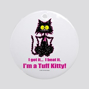 BREAST CANCER Cat - Ornament (Round)