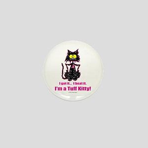 BREAST CANCER Cat - Mini Button