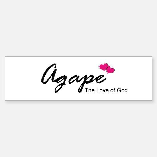 Agape Love Bumper Bumper Bumper Sticker