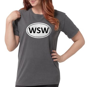 WSW Euro Oval Womens Comfort Colors Shirt