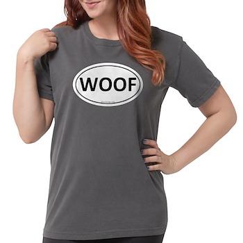 WOOF Euro Oval Womens Comfort Colors Shirt