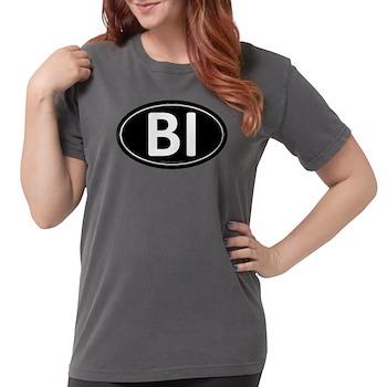BI Black Euro Oval Womens Comfort Colors Shirt