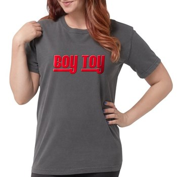 Boy Toy - Red Womens Comfort Colors Shirt