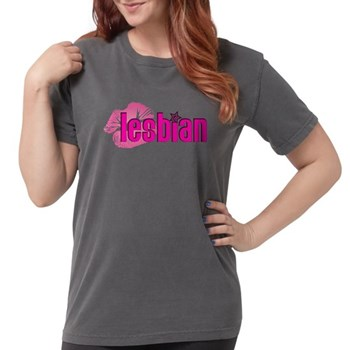 Lipstick Lesbian Womens Comfort Colors Shirt