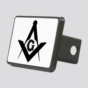 Outline Square and Compass Rectangular Hitch Cover