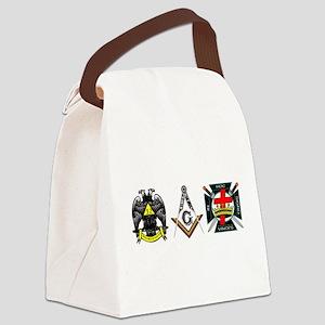 Multiple Masonic Bodies Canvas Lunch Bag