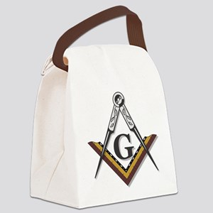 Square and Compass Canvas Lunch Bag