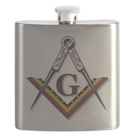Square and Compass Flask