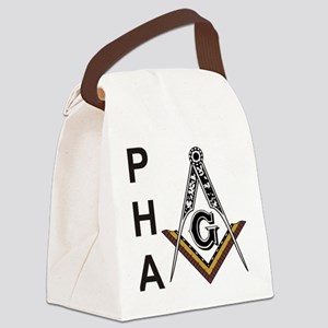 Prince Hall Square and Compass Canvas Lunch Bag